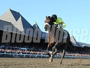 A Little Warm wins the 2010 Jim Dandy.