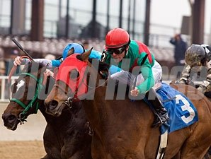 Racing Bran wins the 2010 Milwaukee Avenue Handicap.
