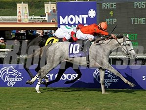 Tapitsfly wins the 2009 Breeders' Cup Juvenile Fillies Turf.