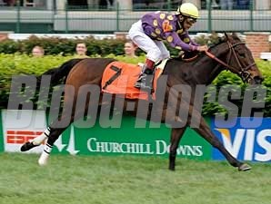 Bayou Lassie galloped home a clear winner in the $169,050 Churchill Distaff Turf Mile (gr. IIIT).