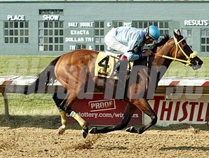 Pay the Man wins the 2011 Rose DeBartolo Memorial Stakes.