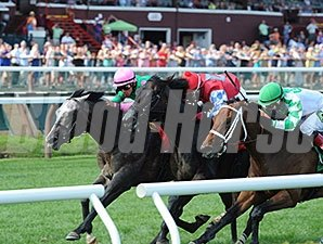 Pure Sensation wins the 2014 Quick Call Stakes
