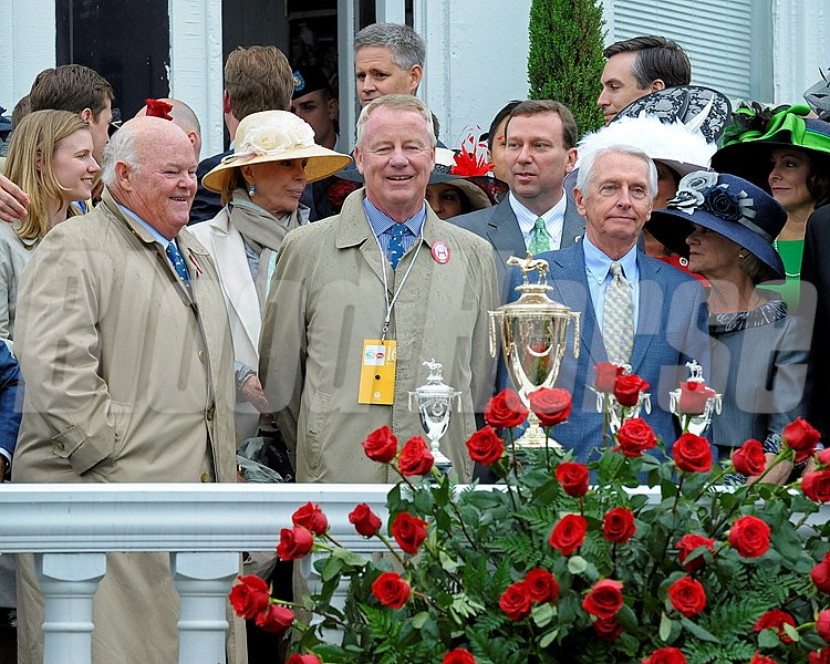 l-r, Ogden Mills (Dinny) Phipps, Stuart Janney, Kevin Flanery, Gov. Steve Beshear and First Lady Jane Beshear