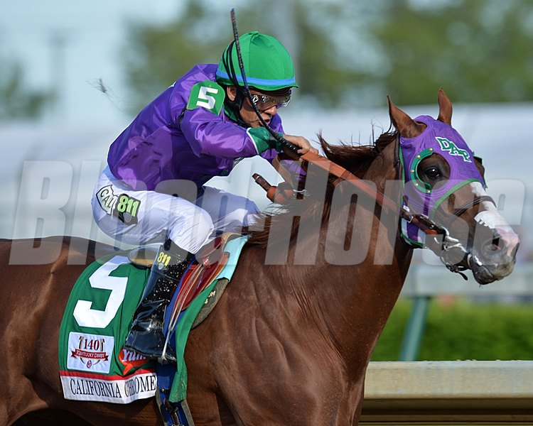 California Chrome with Victor Espinoza,