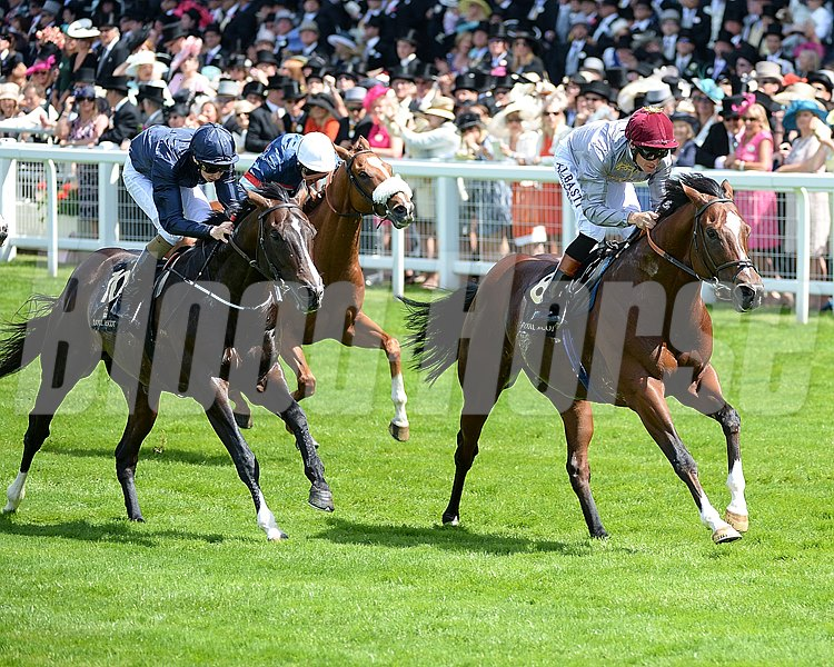 Toronado storms home to win the Queen Anne Stakes at Royal Ascot.