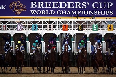 Out of the gate in the Breeders' Cup Classic.
