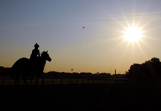 (June 3, 2014) Sunrise at Belmont Park... 