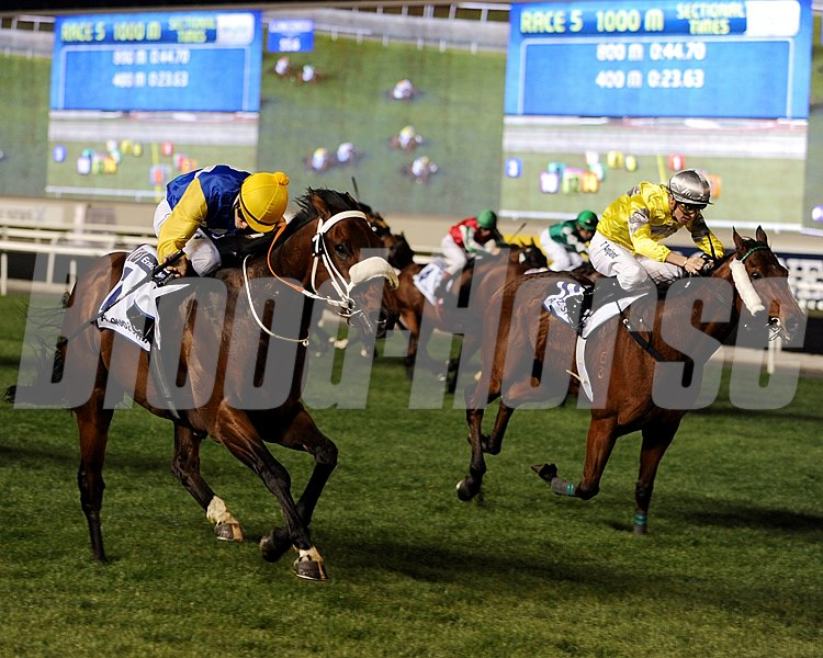 Shea Shea winning the Al Quoz Sprint.