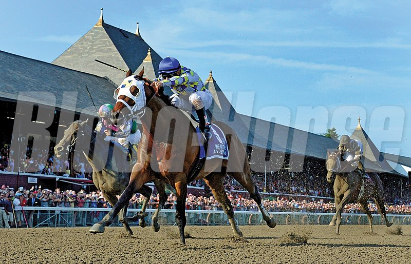 Southern Equine Stables' 10-1 shot Moreno went wire-to-wire in the 1 1/8-mile 2014 Whitney Handicap, easily holding off Itsmyluckyday and Will Take Charge to finish 1 1/4 lengths clear for jockey Junior Alvarado at Saratoga.