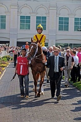 Curlin was the center of attention on Stephen Foster Day.