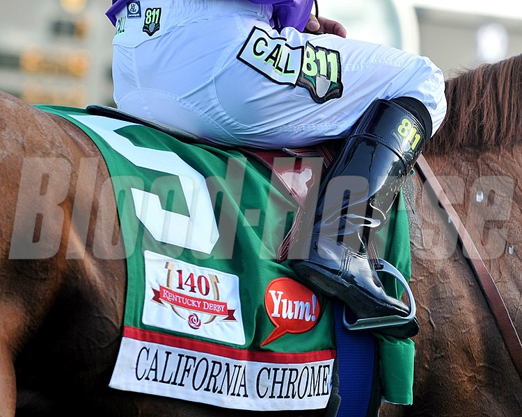 California Chrome's saddle cloth.