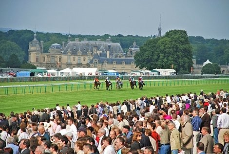 View of the Chateau on Prix de Diane Day.