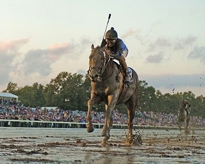 GOOD THINGS COME IN THREES: Super-talented 3-year-olds dominated the racing scene in 2007.  Curlin is shown here winning the 2007 Breeders' Cup Classic Powered by Dodge.