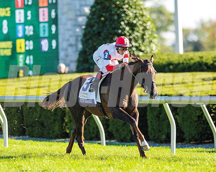 Kitten Kaboodle took the rail trip to victory in the $150,000 Grade III Jessamine Stakes at Keeneland earning a berth in the Breeders' Cup Juvenile Fillies Turf.