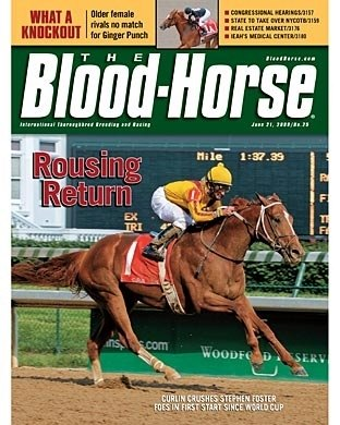 Curlin's next vicotry of 2008 came in the Stephen Foster Handicap (gr. I) at Churchill Downs.
