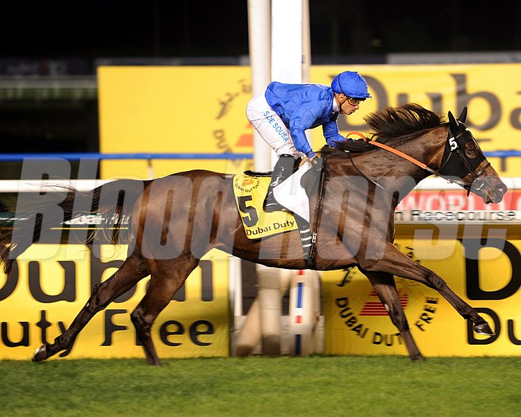 Sajjhaa winning the Dubai Duty Free.