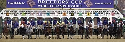 Out of the gate in the Breeders' Cup Distaff.