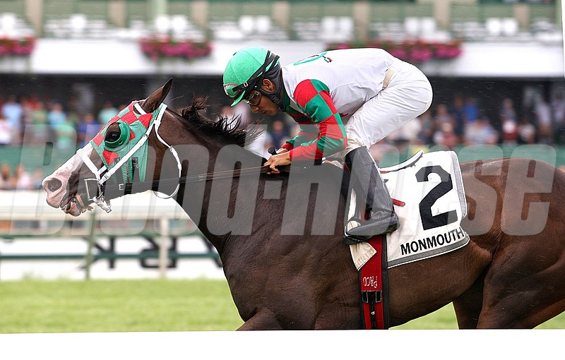 Ju Ju Eyeballs wins the Klassy Briefcase Stakes at Monmouth Park.
