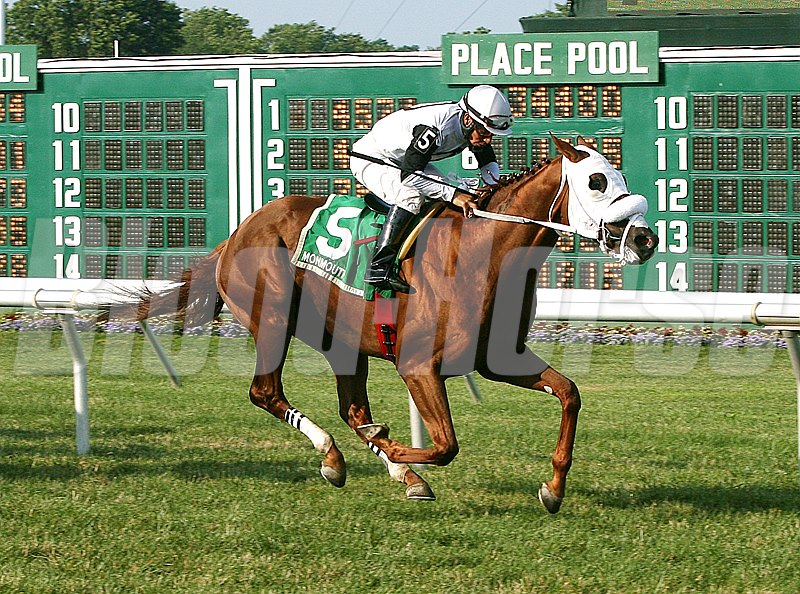 Hard Enough #5 with Paco Lopez riding won the $60,000 Jersey Derby at Monmouth Park.