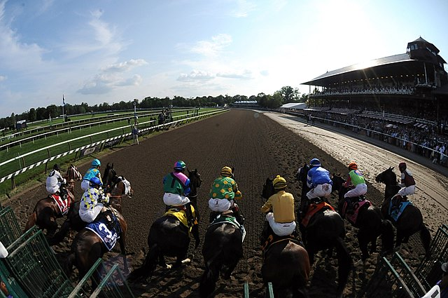 Start of the Grade I Whitney Handicap at Saratoga Race Course in New York.