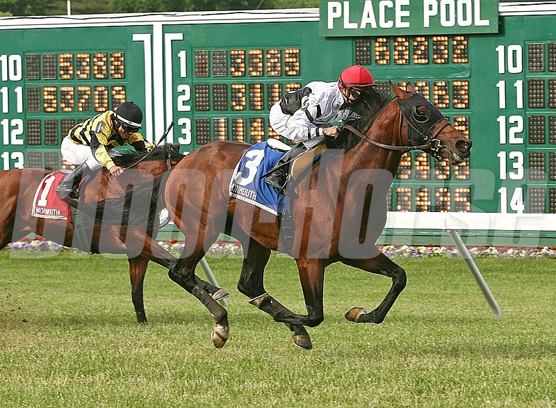 Speaking Of Which #3 with Joe Bravo riding gave people something to talk about in the $200,000 Grade II Monmouth Stakes at Monmouth Park.