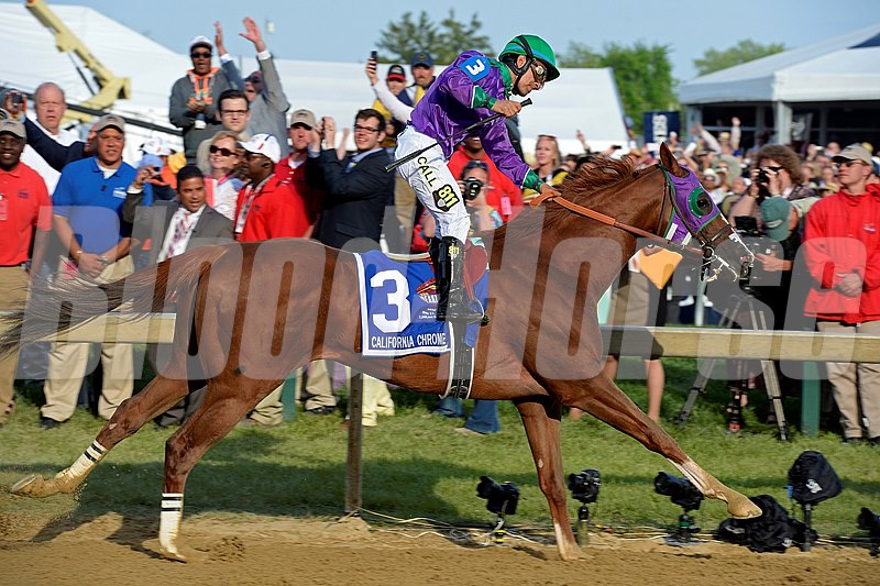 Steven Coburn and Perry Martin's California Chrome kept his Triple Crown hopes alive with a smooth victory in the $1.5 million Preakness Stakes (gr. I) at Pimlico Race Course May 17.