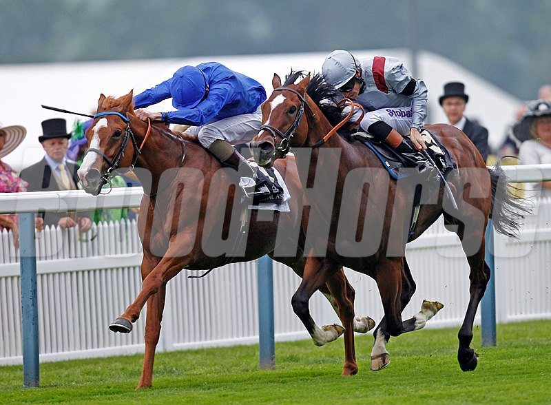 Dawn Approach (left) defeats Toronado (right) in the St James's Palace Stakes June 18, 2013.