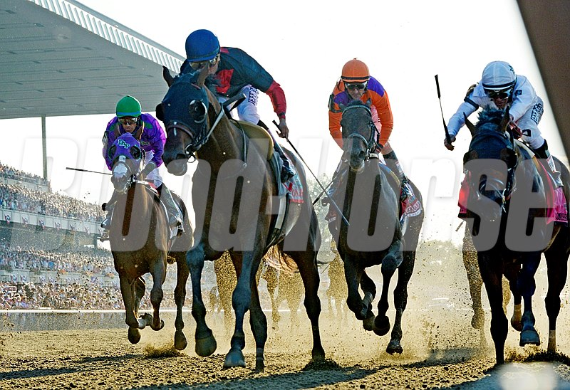 Tonalist, second from left, out duels the rest of the field.