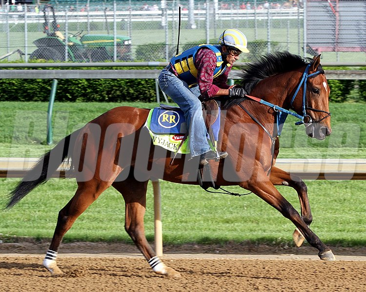 Vyjack with Rudy Rodriguez up on the track at Churchill Downs on May 2, 2013.
