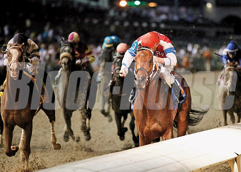Moonshine Mullin a $40,000 claim for Randy Morse & Randy Patterson in the 8th race at Remington Park on November 30, 2013. He went on to win the Grade I Stephen Foster Handicap.