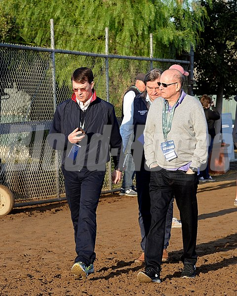 Caption:  Aidan O'Brien, left, and Michael Tabor