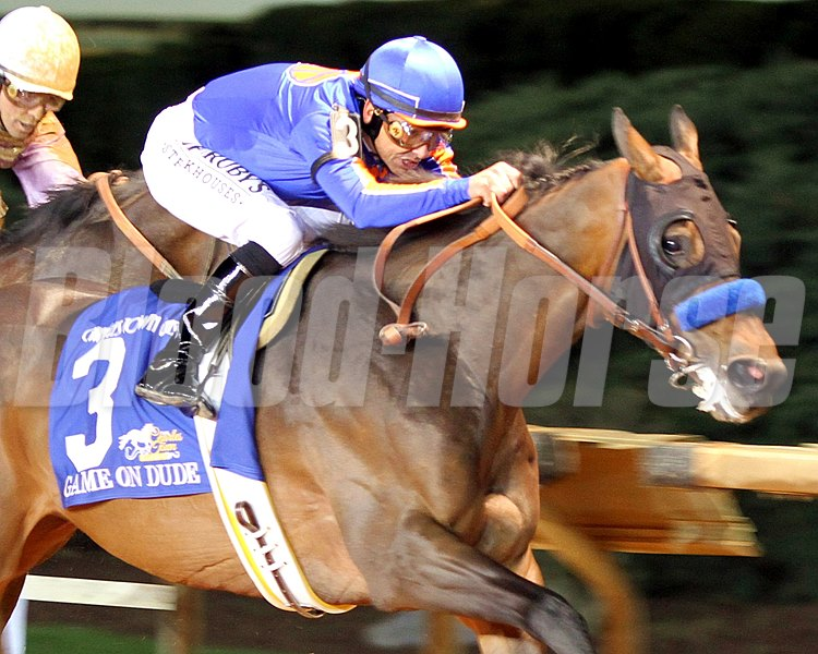 Game On Dude w/Mike Smith up win the Charles Town Classic on April 20, 2013.