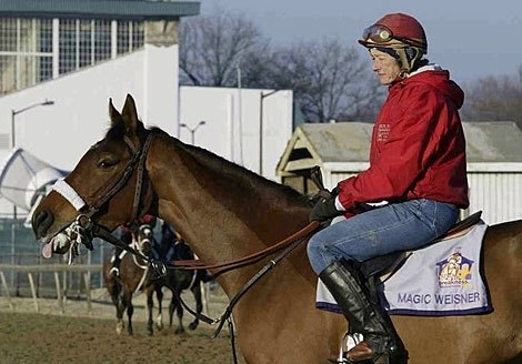 Nancy Alberts - Trainer. Horses trained include homebred runner Magic Weisner, who finished 2nd in the 2002 Preakness Stakes.