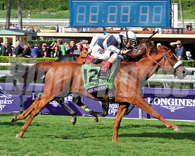 The first race on our countdown is the 2014 Breeders' Cup Turf (gr. IT) at Santa Anita Park coming in at #10.