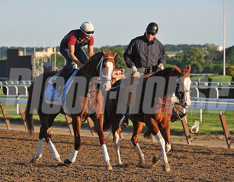 Trainer D. Wayne Lukas, ponying Will Take Charge at Belmont, Wednesday morning, 2013 Belmont Stakes week...