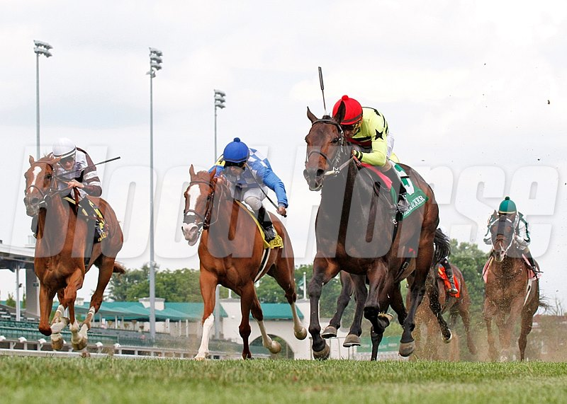 Mark Bacon and Dana Wells' Silver Max, lit up the turf course at Churchill Downs with a  wire-to-wire score in the Grade II Firecracker Stakes at Churchill Downs.