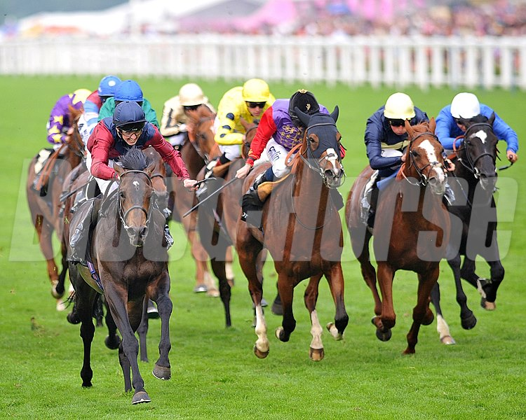 Elidor, ridden by Martin Harley, wins the King George V Stakes at Royal Ascot June 20, 2013.