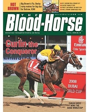 For Curlin's first two races as a four-year-old he went overseas to race at Nad Al Sheba Racecourse.  He won both races including the prestigious Dubai World Cup.