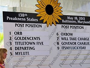 Orb Draws Rail in Preakness Stakes