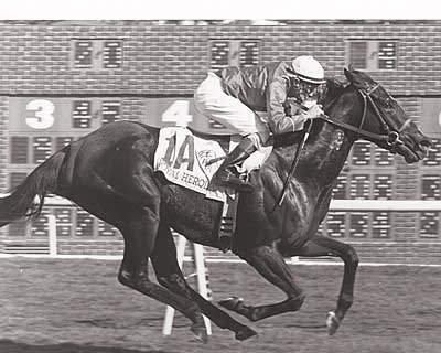 The filly Royal Heroine set a North American record for the distance in the inaugural BC Mile