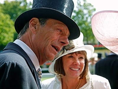 Sir Henry and Lady Jane Cecil at Royal Ascot.
