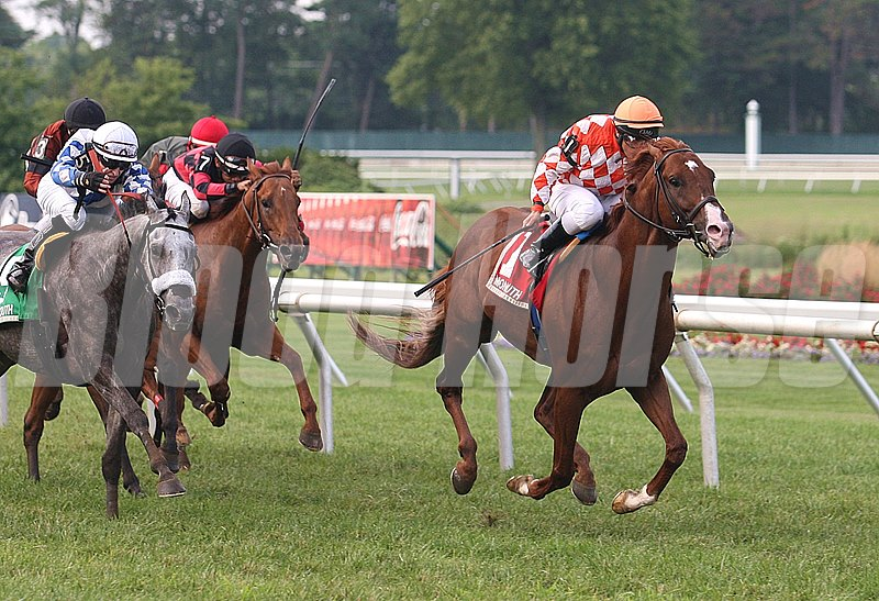 Wicked Tune #1 with Elvis Trujillo riding won the $60,000 My Frenchman Stakes at Monmouth Park.