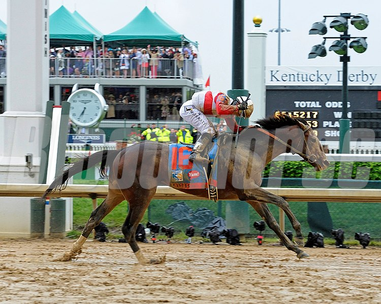 Orb with Joel Rosario wins the Kentucky Derby  at Churchill Downs near Louisville, Ky. on May 4, 2013,  Derby2  image200 Photo by Anne M. Eberhardt