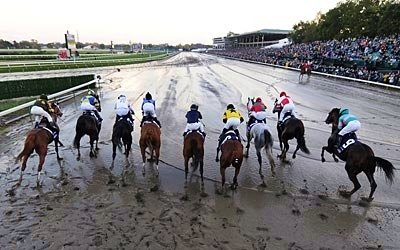 The horses leave the gate in the 2007 Breeders' Cup Classic.
