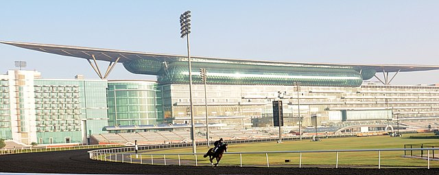 Meydan racecourse in Dubai. Dubai World Cup. March 30, 2013
