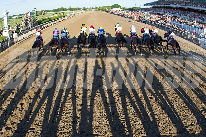 WinStar Farm's Commissioner went for the early lead from post 8 and was able to dictate the early pace while being tracked by General a Rod, Tonalist, and California Chrome, who took a position inside behind the leaders. The early fractions were mild; :24.06 for the opening quarter-mile and :48.52 for the half-mile.