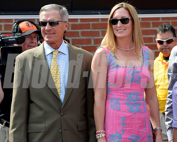Caption: Caroline Forgason, owner of Somali Lemonade with trainer Michael Matz