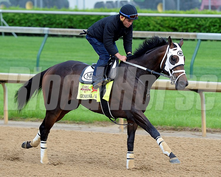 Caption: General A Rod finishing out work this mroning