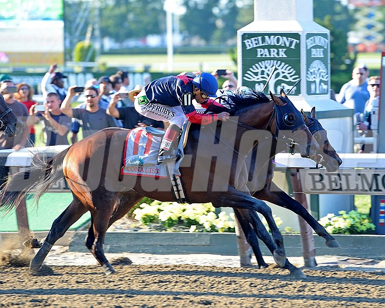 Robert Evan's Tonalist rallied late to edge Commissioner, winning the Grade I Belmont Stakes. California Chrome, bidding for the Triple Crown, finished in a dead-heat for fourth with Wicked Strong behind Medal Count.