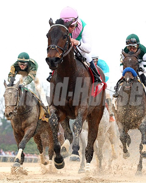 Favored at odds of 3-5 and making her first start of the season off a runner-up finish in the Breeders' Cup Distaff, Close Hatches, Juddmonte's 4-year-old First Defence filly galloped wire to wire in the 1 1/16-mile test, taking rider Joel Rosario straight to the winner's circle at Oaklawn Park in the Grade II Azeri Stakes.